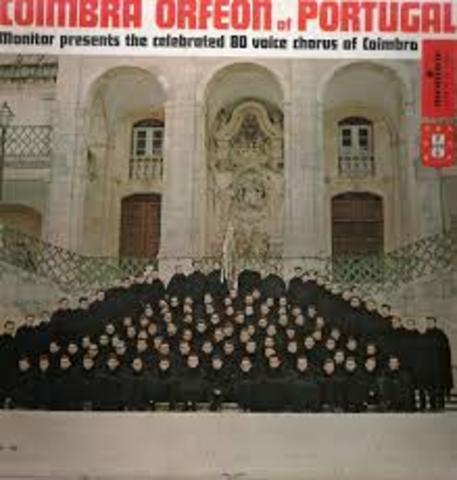 Edição luso-americana, pela Monitor Records, do LP «Coimbra Orfeon of Portugal»