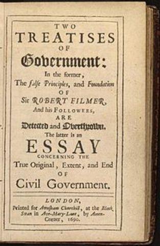 John Locke justifies rebellion in Two Treatises on Government