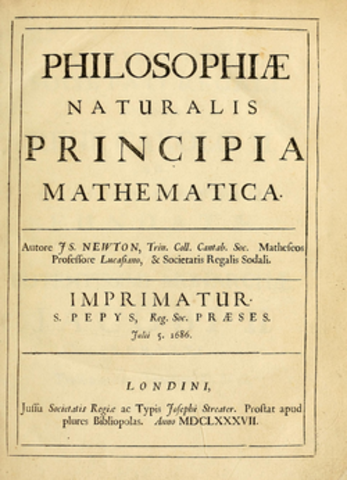 Isaac Newton published his laws of gravity in Mathematical  Principles of Natural Philosophy