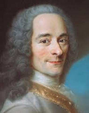 Voltaire is exiled to England