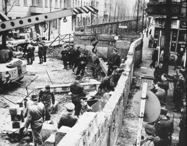 Construction of the Berlin Wall Begins