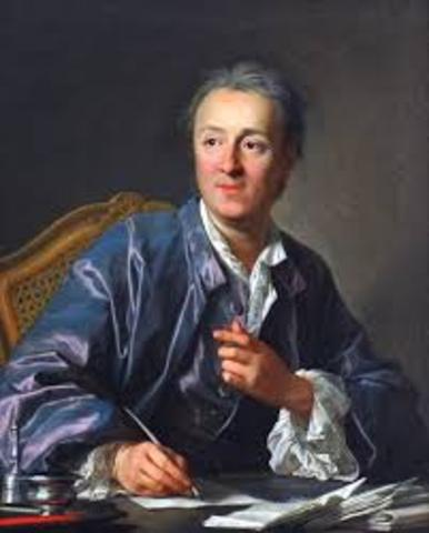 """Denis Diderot publishes the first volumes of his """"Encyclopedia"""""""