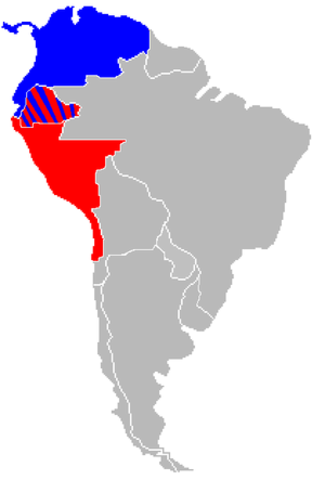 Peru invades Bolivia & Colombia declares war on Peru