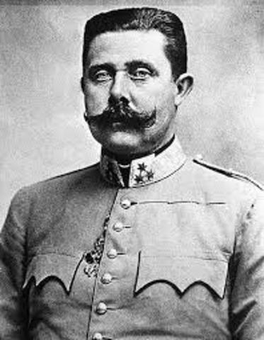 Assassination of the Arch Duke Franz Ferdinand