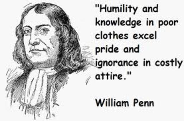 William Penn Recieves Land.