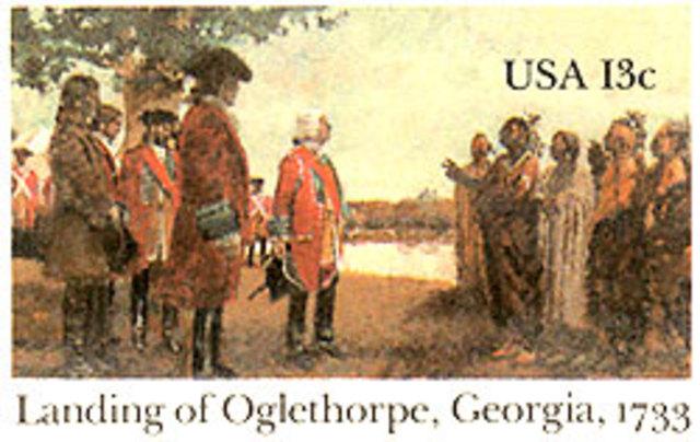 First English settlers arrive in Georgia