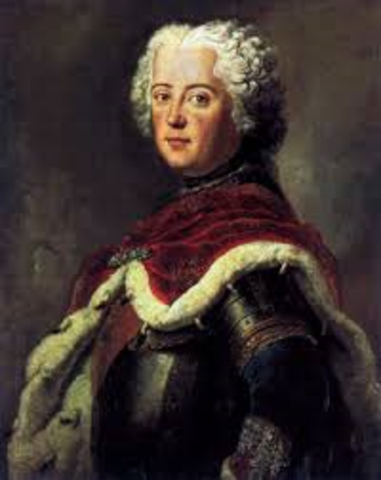 Frederick the great begins his reign in Prussia