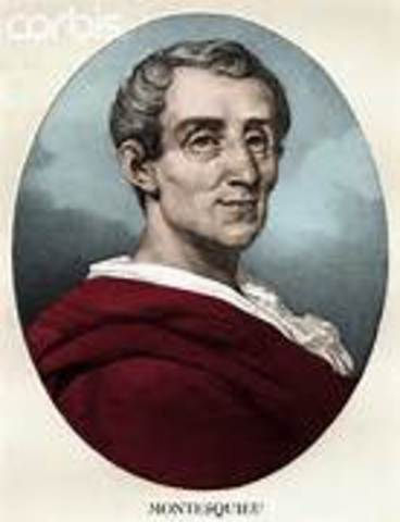 Baron von Montesquieu purposed seperation of powers in On the Spirit of Laws