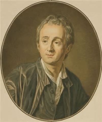Denis Diderot publishes the first volumes of his Encyclopedia