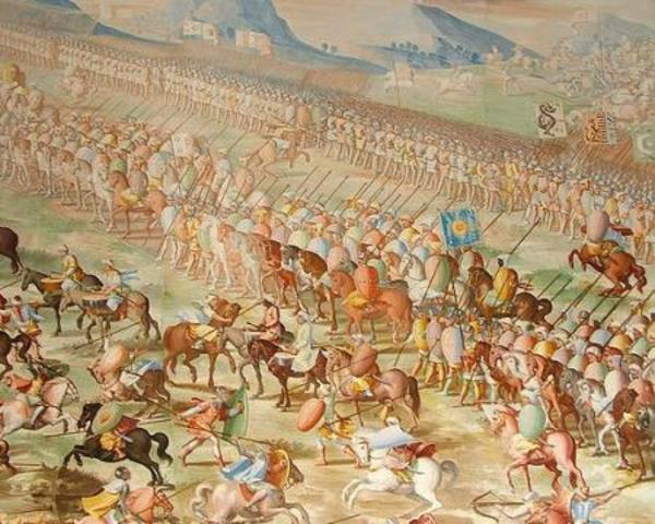 Reinforcements of 18,000 support the Spanish conquest
