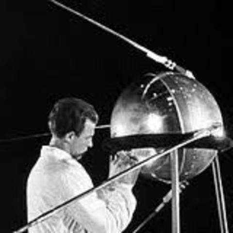 The launching of Sputnik I.