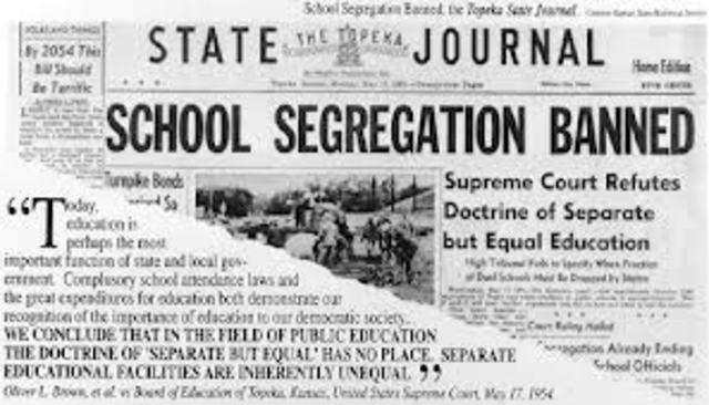 School Segregation Unconstitutional