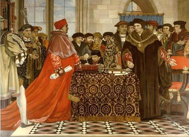 Henry VIII seperates England from Catholic ties