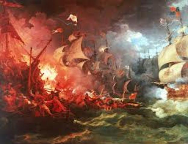 English Defeat of Spanish Armada
