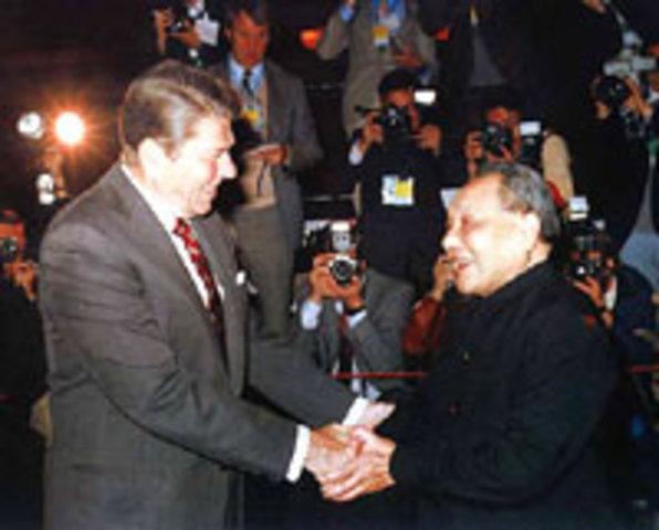 U.S. and China establish diplomatic relations