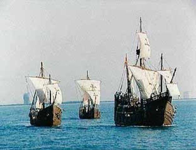 Columbus' first voyage
