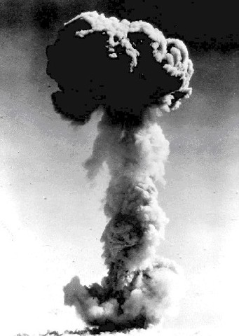 China's first atomic bomb explodes
