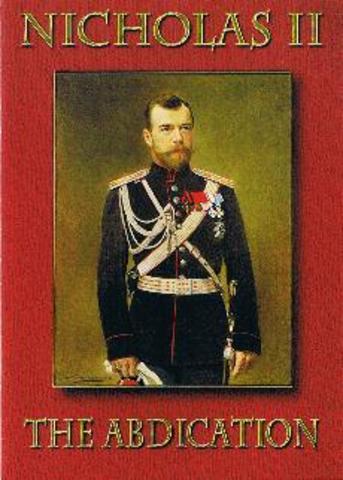 Tsar abdicates!