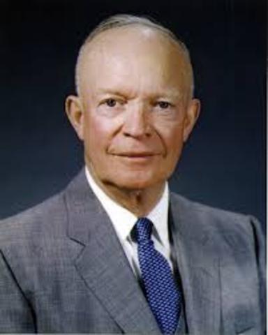 Dwight D. Eisenhower becomes President