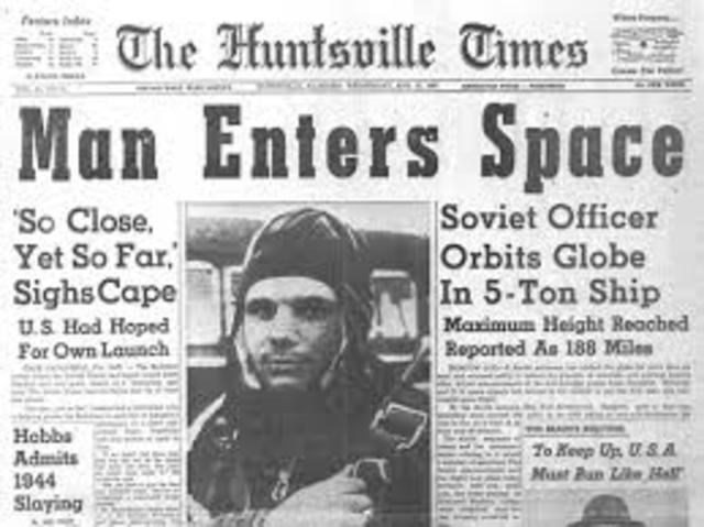 Soviets Launch First Man in Space