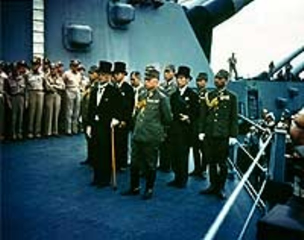 Japanese surrender, end of WWII