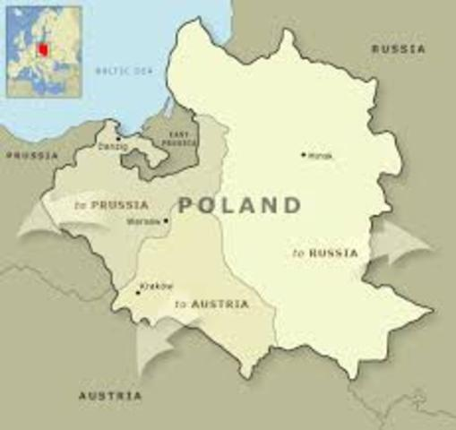 The start of the Partition of Poland