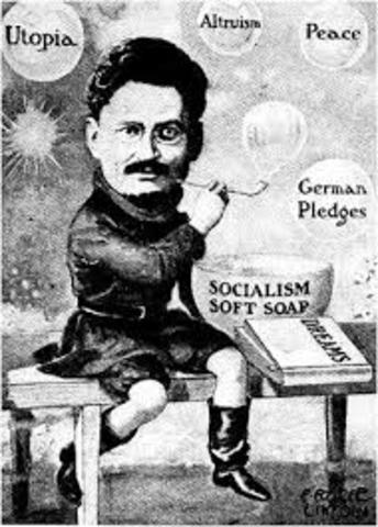 Trotsky was exiled.
