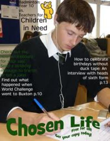 School Magazine Cover Research