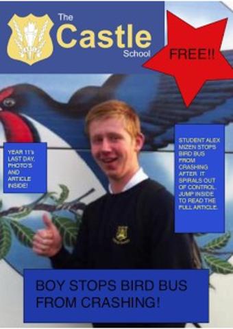 School Magazine Front Cover