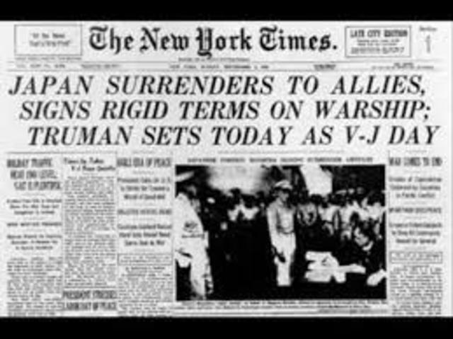 V-J Day Japan surrendered