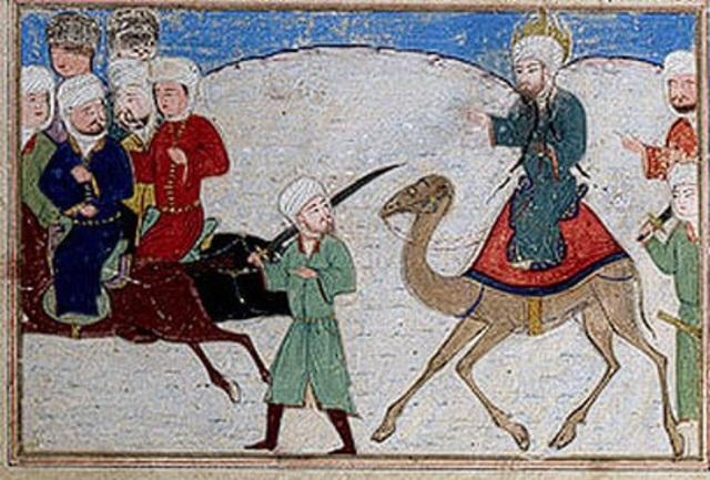 Muhammad and His Followers Flee to Yathrib