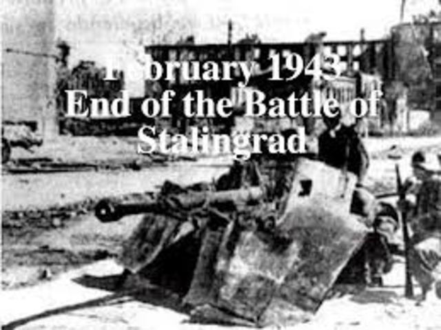 the end of Stalingrad