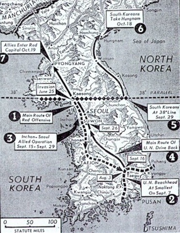Eighth Army reaches 38th Parallel