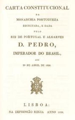 A Carta Constitucional é publicada em Lisboa