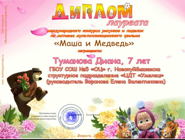 Диплом за участие в международном конкурсе