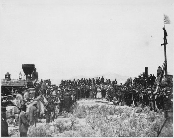 Completion of Trans-Continental Railroad