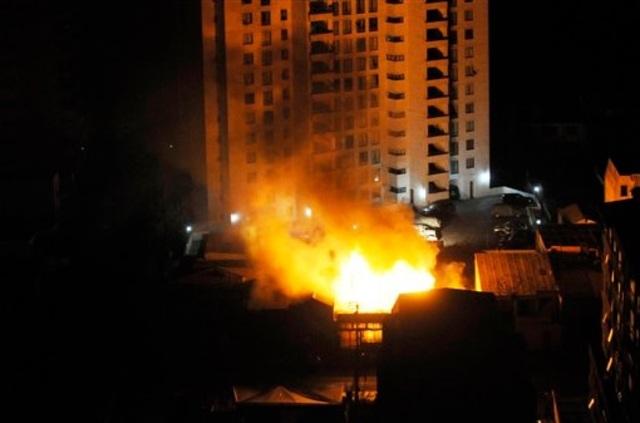 Incendio, derrumbe y caos