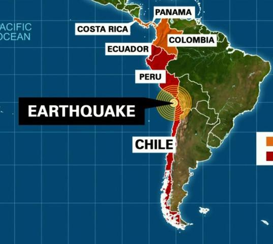 Chile: Terremoto y alerta de tsunami