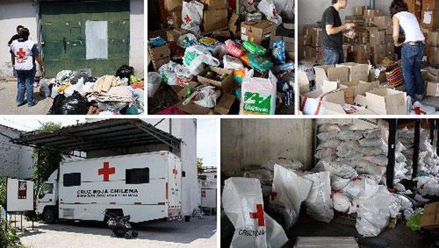 Las zonas afectadas reciben donaciones