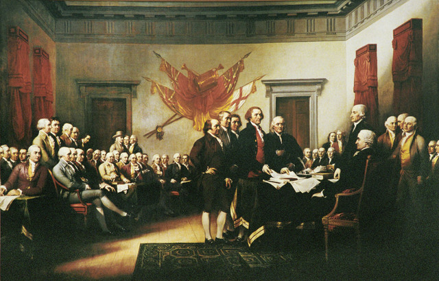 America declares independence from England.
