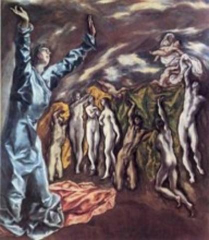 El Greco  - Το όραμα του Αγίου Ιωάννη (1585)