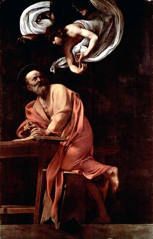 Καραβάτζιο - Ο Άγιος Ματθαίος και ο Άγγελος, 1602.