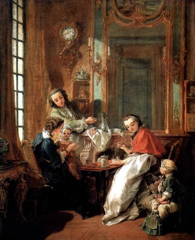 Το πρωινό, του Φρανσουά Μπουσέ (1739, Λούβρο)