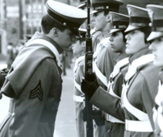 Women enter military schools for the first time and other schools become co-educational