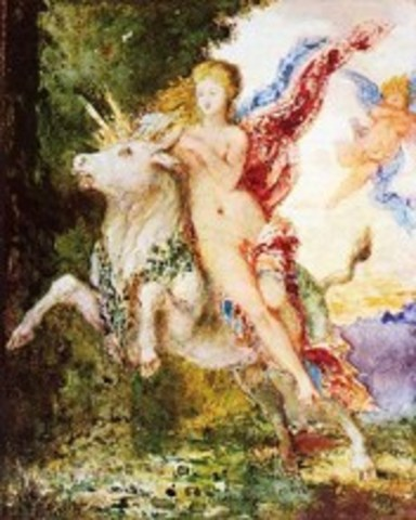 """""""Η Ευρώπη και ο ταύρος""""Moreau (1869)"""