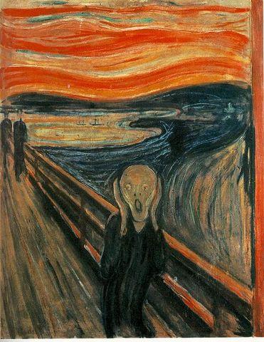 """""""Η κραυγή""""Munch (1893)"""