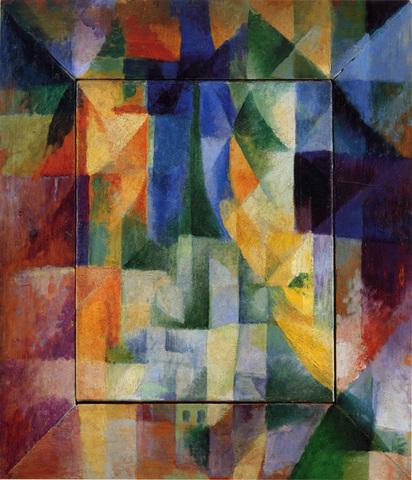 Ρομπέρ Ντελωναί: Ταυτόχρονα παράθυρα προς την πόλη (1912),
