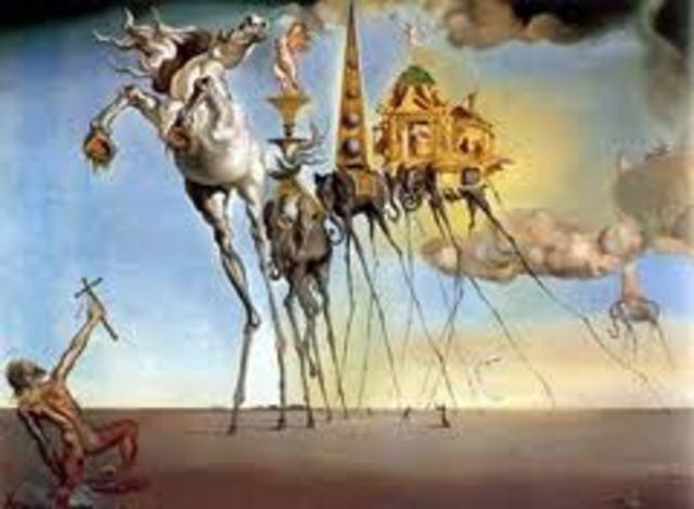 """Νταλί -""""Οι προκλήσεις του Άγιου Αντωνίου"""" (1946)"""