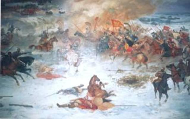 Сражение войск Лжедмитрия I с правительственной армией
