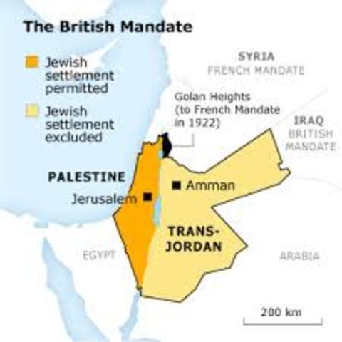 Palestine is mandated by British